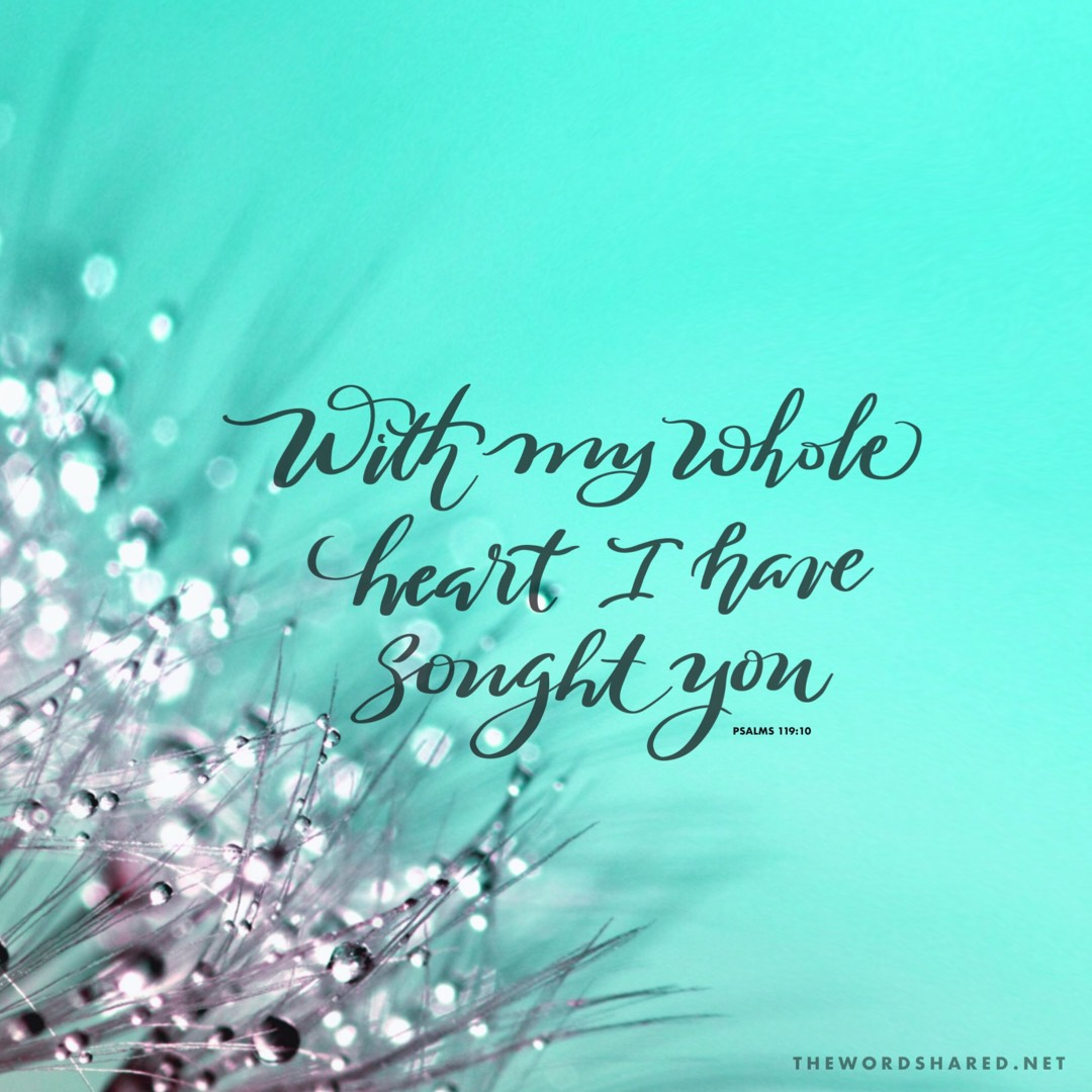 With My Whole Heart I Have Sought You