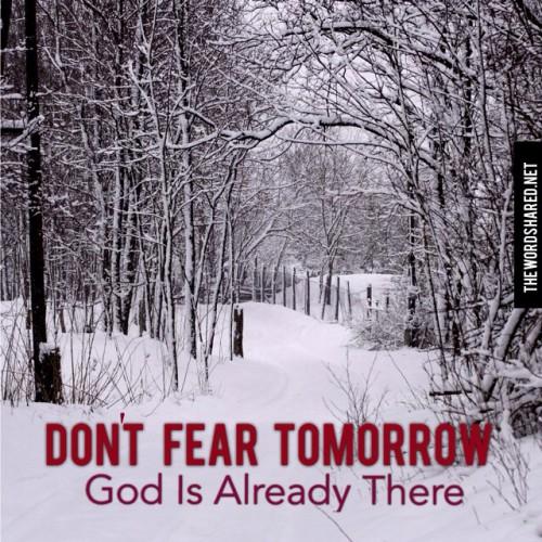 Don't Fear Tomorrow