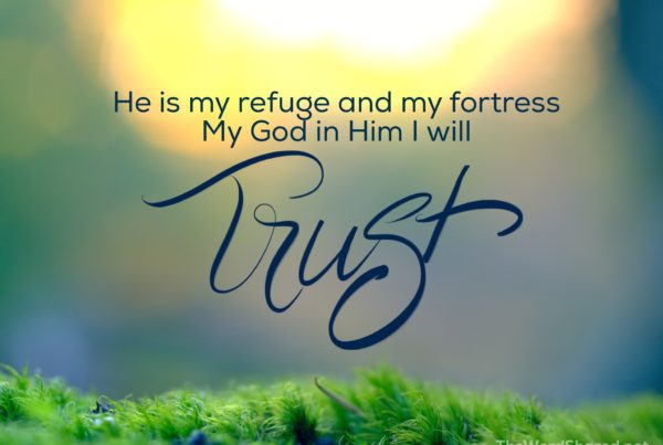 He is my refuge and my fortress