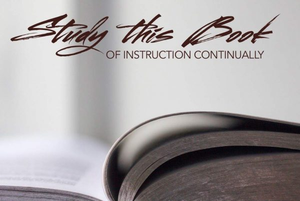 Study This Book Of Instruction Continually