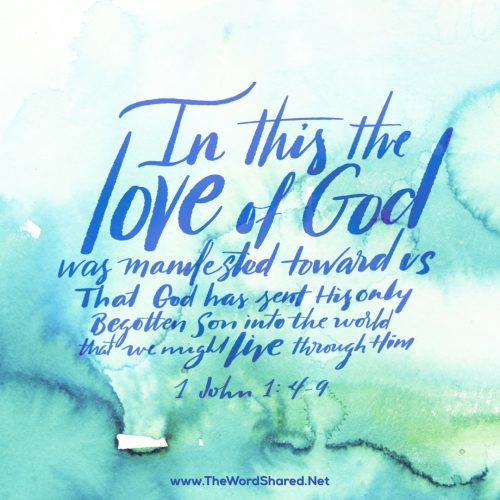 In this the love of God was manifested toward us