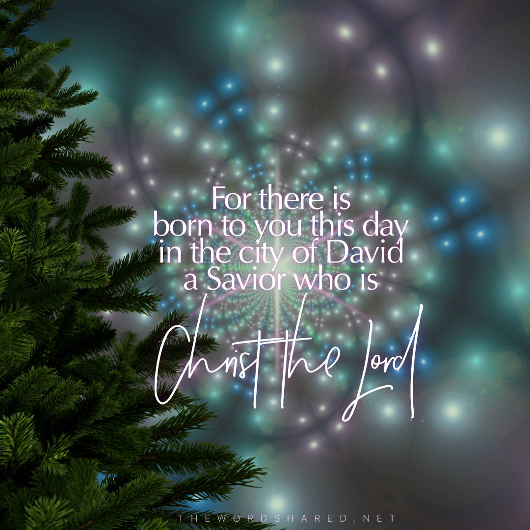 For there is born to you this day in the city of David a Savior, who is Christ the Lord.