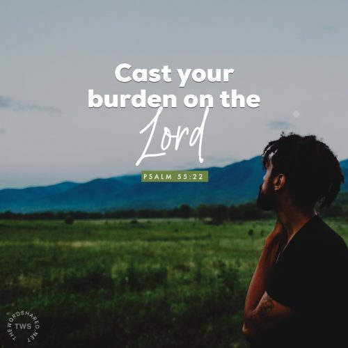 Cast your burden on the Lord , And He shall sustain you; He shall never permit the righteous to be moved. Psalms 55:22 NKJV https://my.bible.com/bible/114/PSA.55.22.nkjv