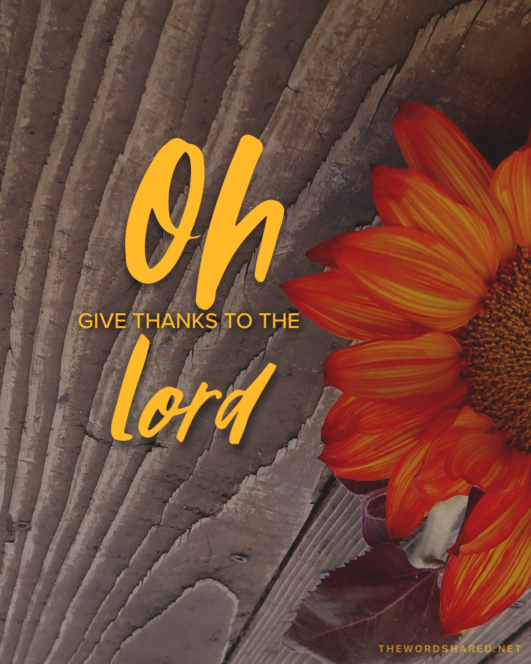 Oh Give Thanks To The Lord