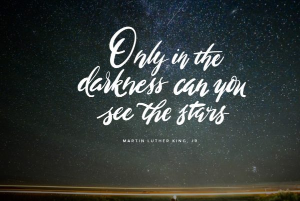 Only In Darkness Can You See The Stars -Square